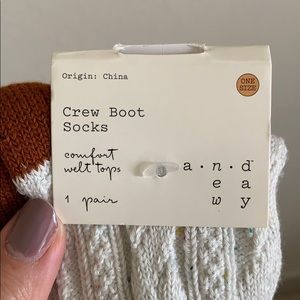 a new day Accessories - Crew Boot Socks
